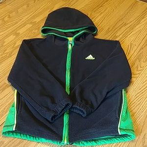 adidas Kid's Fleece & Polyester Jacket Sz 6